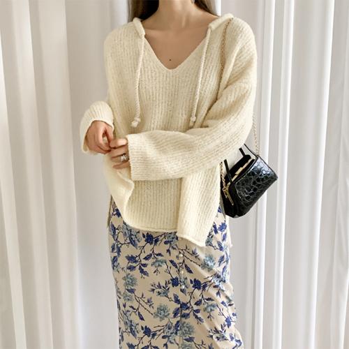 Popcorn string knit
