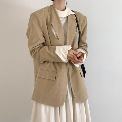 Corduroy boxy jacket