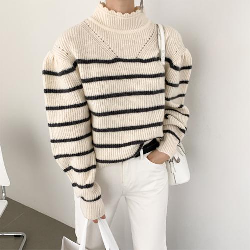 Indie puff knit