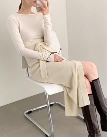 Ribbon knit skirt