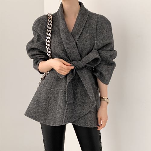 Herringbone wool over jacket