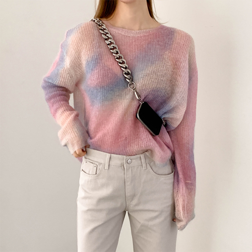 Mohair coloring knit