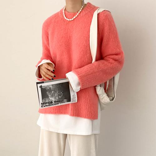 Brush cosy knit