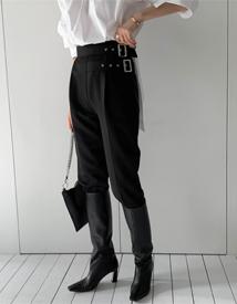 Buckle shibori pants