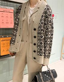 Jacquard cardigan