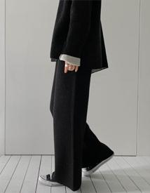 Soft wool knit pants