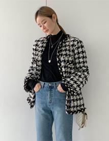 Combi tweed boxy jacket