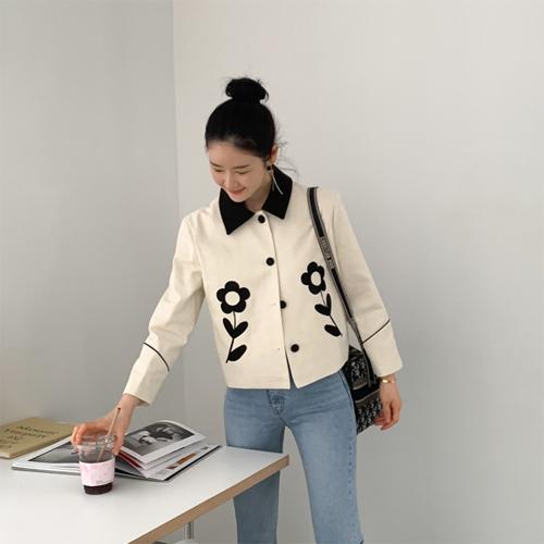 Front flower jacket