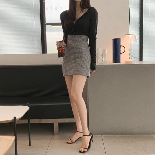 Risa tweed skirt
