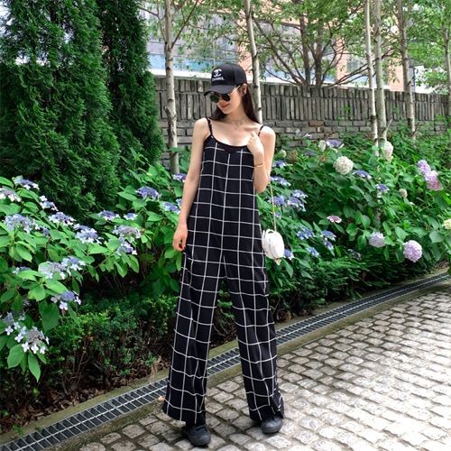 Big check jumpsuit