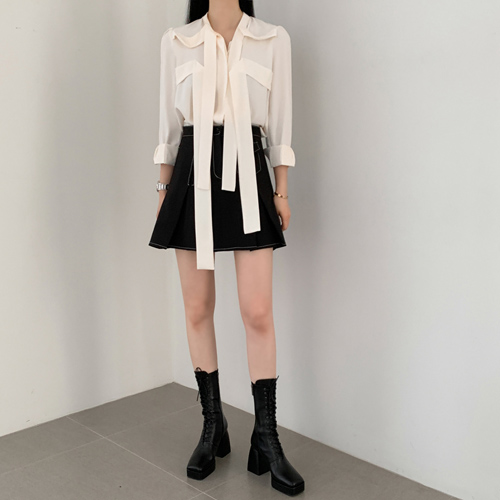 Two ribbon blouse