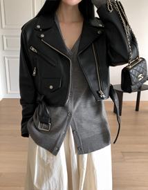 Sheepskin rider jacket