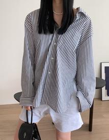 Cocoon stripe shirt