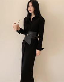 Knit long dress