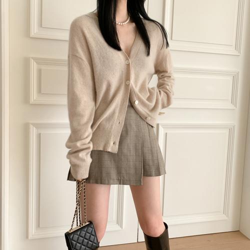 Wrap pleats skirt