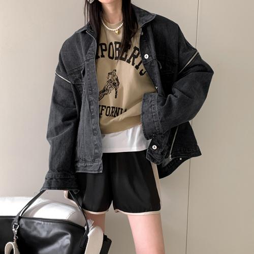 Bold denim jacket