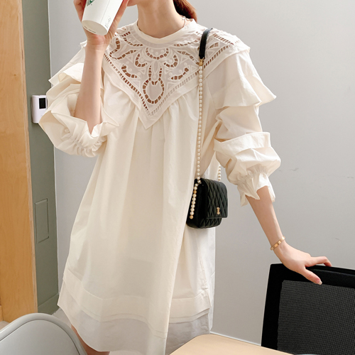 Motive lace dress