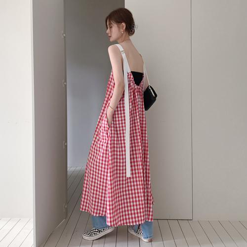 Gobang check dress