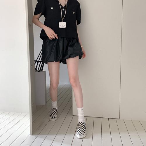 Leather balloon shorts *7月第五周入库*
